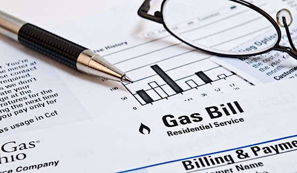 monthly gas bill